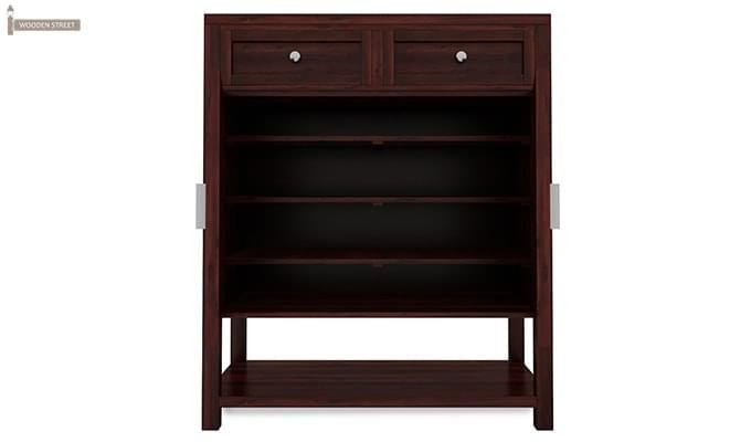 Helena Shoe Storage Unit (Mahogany Finish)-3