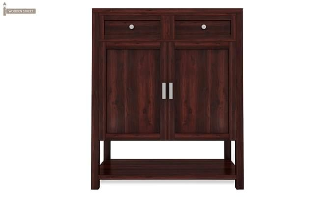 Helena Shoe Storage Unit (Mahogany Finish)-4