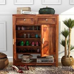 Helena Shoe Storage Unit (Teak Finish)