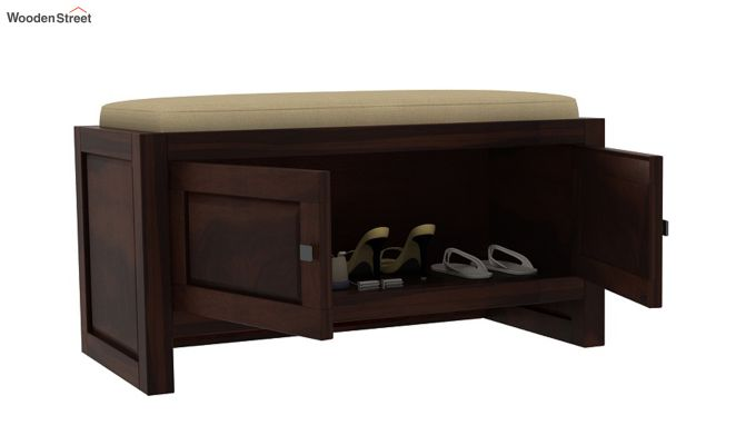 Hermes Shoe Rack (Walnut Finish)-3