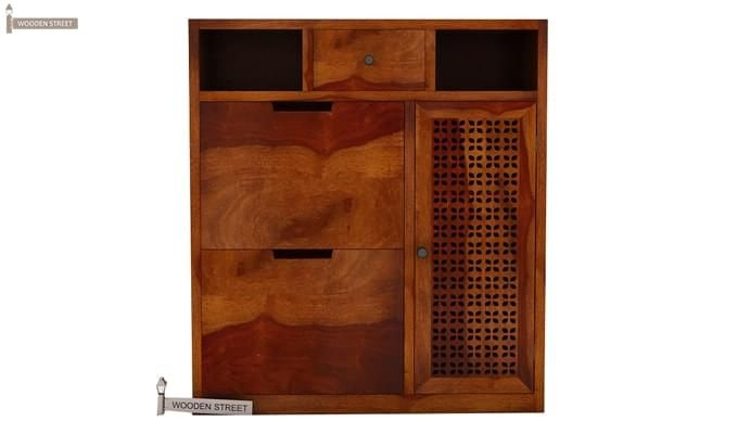 Hoff Shoe Cabinet (Honey Finish)-1