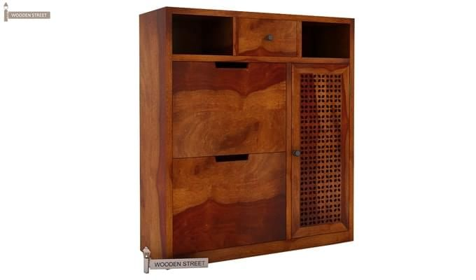 Hoff Shoe Cabinet (Honey Finish)-2