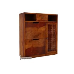 Hoff Shoe Cabinet (Honey Finish)