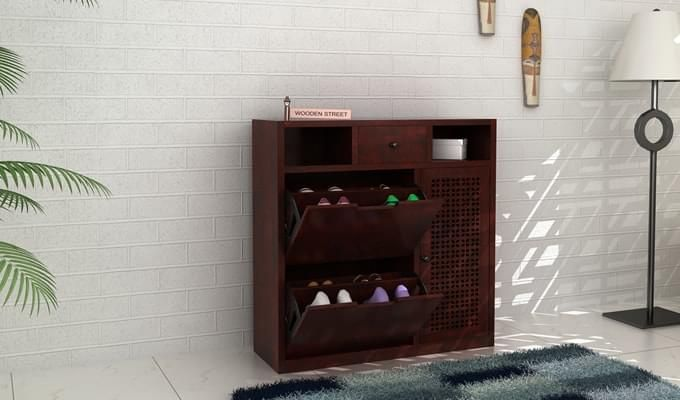Hoff Shoe Cabinet (Mahogany Finish)-1