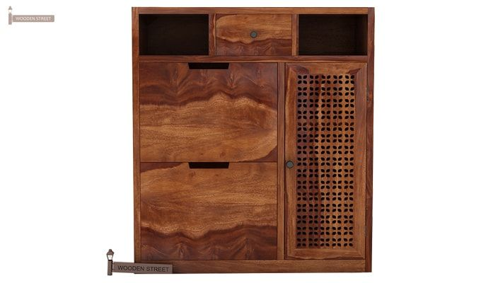 Hoff Shoe Cabinet (Teak Finish)-3