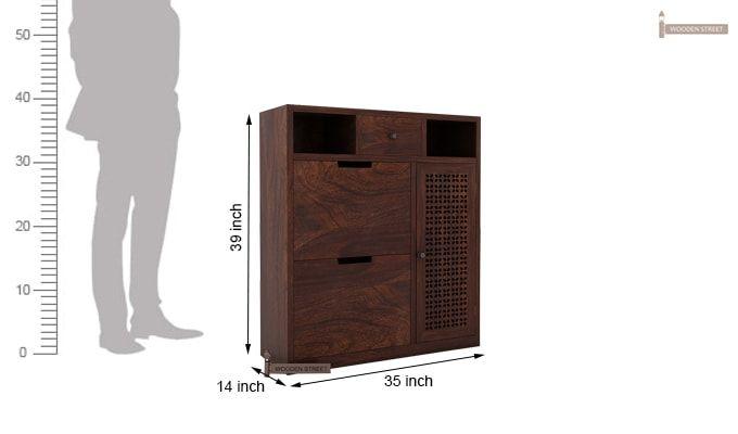 Hoff Shoe Cabinet (Walnut Finish)-4