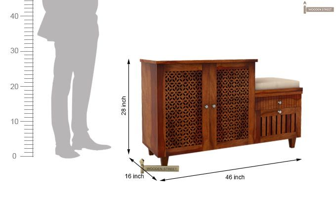 Hopkin Shoe Rack (Honey Finish)-6