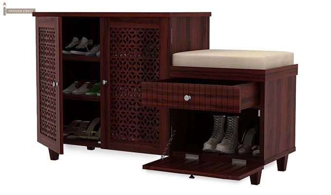 Hopkin Shoe Rack (Mahogany Finish)-4