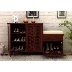 Hopkin Shoe Rack (Mahogany Finish)