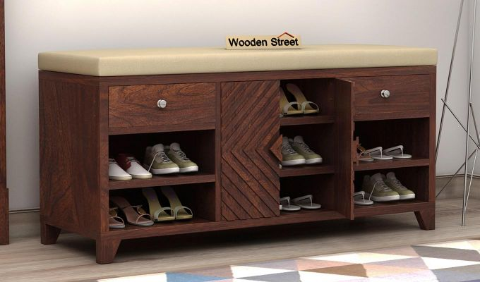 Horton Shoe Rack (Walnut Finish)-1