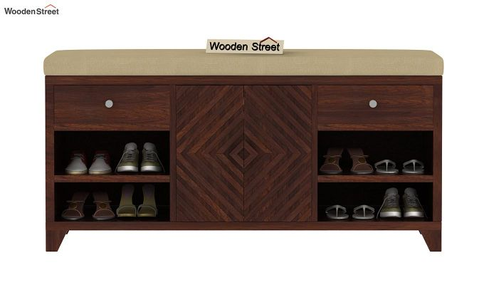 Horton Shoe Rack (Walnut Finish)-2