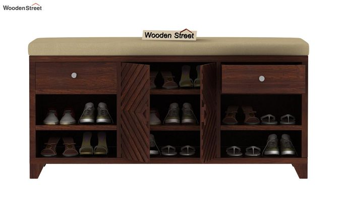 Horton Shoe Rack (Walnut Finish)-3