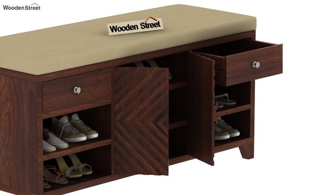 Horton Shoe Rack (Walnut Finish)-5