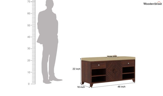 Horton Shoe Rack (Walnut Finish)-6