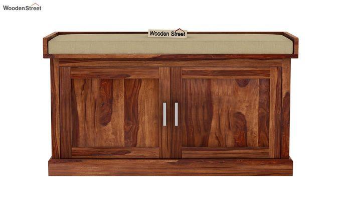 Jenny Shoe Cabinet With Seat (Teak Finish)-4