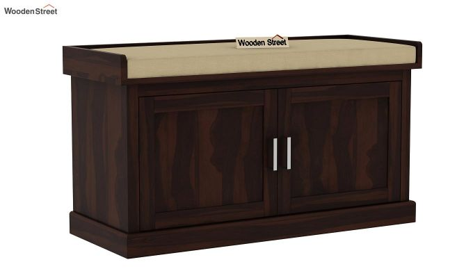 Jenny Shoe Cabinet With Seat (Walnut Finish)-3
