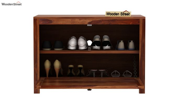 Jesta Shoe Rack (Teak Finish)-7