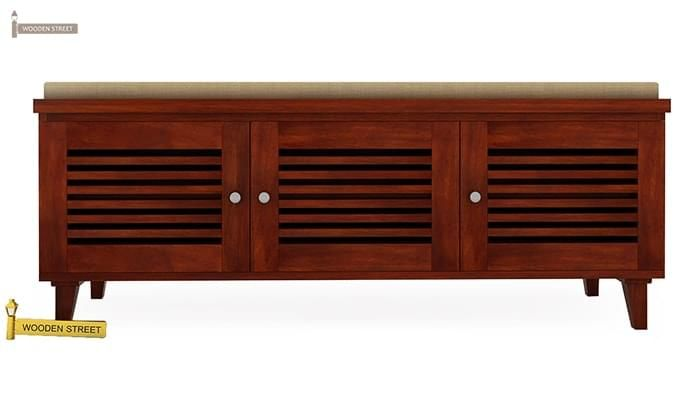 Kathlyn Store Shoe Cabinet (Walnut Finish)-3