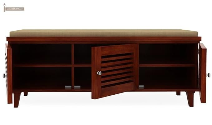 Kathlyn Store Shoe Cabinet (Walnut Finish)-4