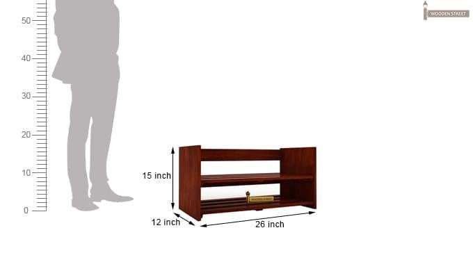 Kroger Shoe Rack (Honey Finish)-5