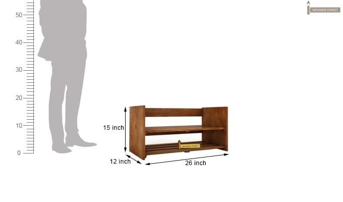 Kroger Shoe Rack (Teak Finish)-3