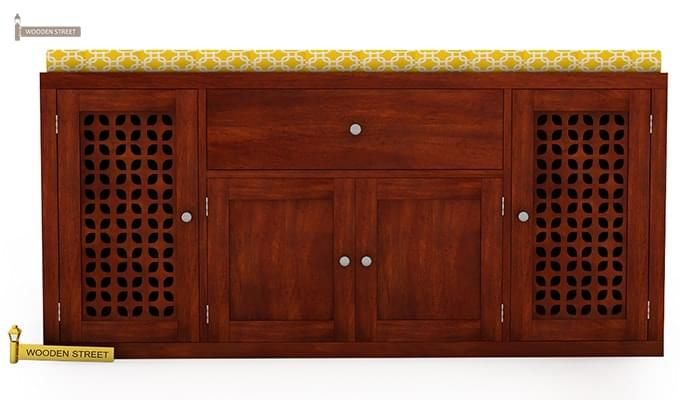 Leomore Shoe Cabinet (Honey Finish)-3