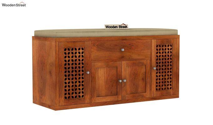 Leomore Shoe Cabinet (Honey Finish)-3
