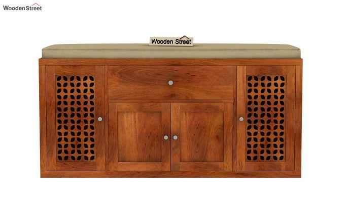 Leomore Shoe Cabinet (Honey Finish)-4