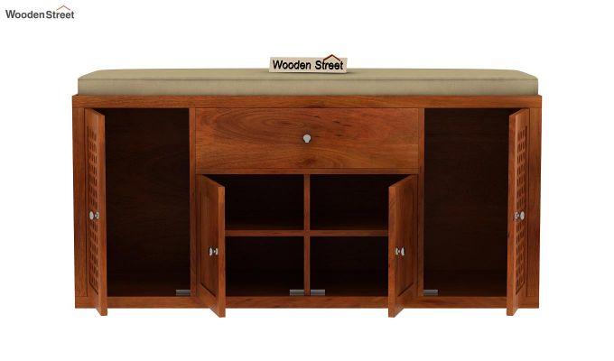 Leomore Shoe Cabinet (Honey Finish)-6