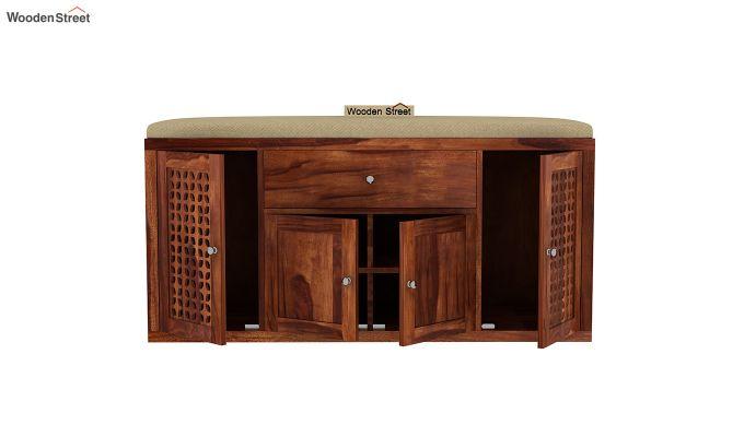 Leomore Shoe Cabinet (Honey Finish)-5