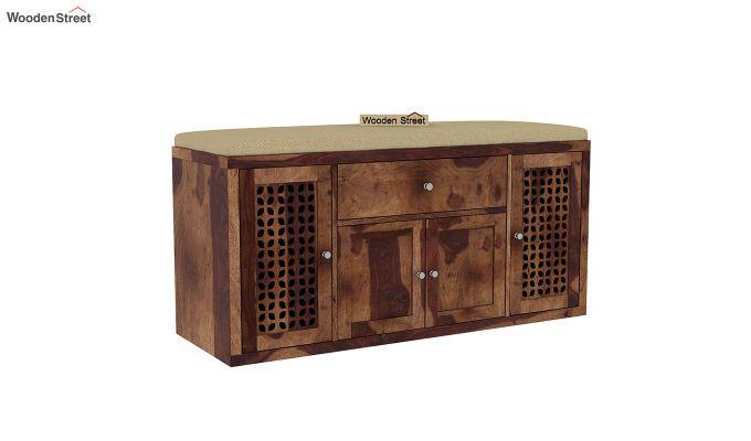 Leomore Shoe Cabinet (Teak Finish)-2