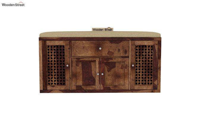 Leomore Shoe Cabinet (Teak Finish)-3