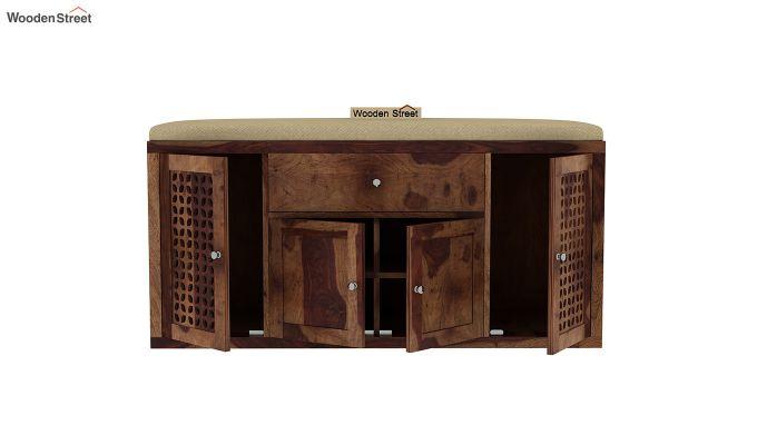 Leomore Shoe Cabinet (Teak Finish)-5