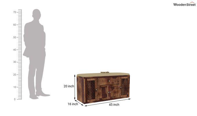 Leomore Shoe Cabinet (Teak Finish)-6