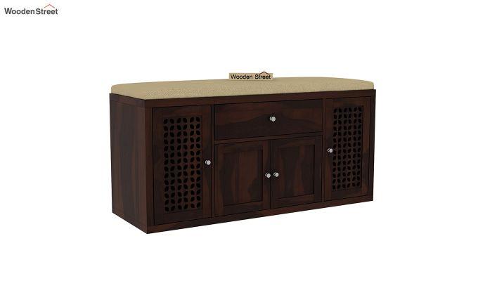 Leomore Shoe Cabinet (Walnut Finish)-2