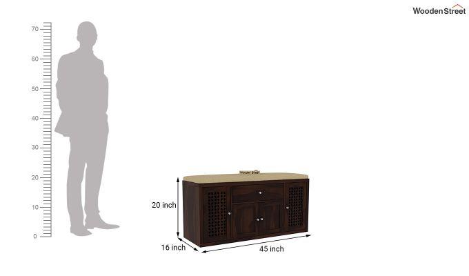 Leomore Shoe Cabinet (Walnut Finish)-6
