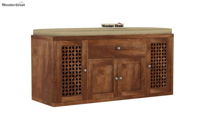 Leomore Shoe Cabinet (Teak Finish)-3