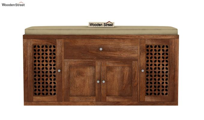Leomore Shoe Cabinet (Teak Finish)-4