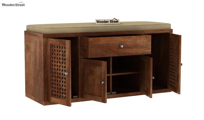 Leomore Shoe Cabinet (Teak Finish)-5