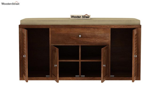 Leomore Shoe Cabinet (Teak Finish)-6