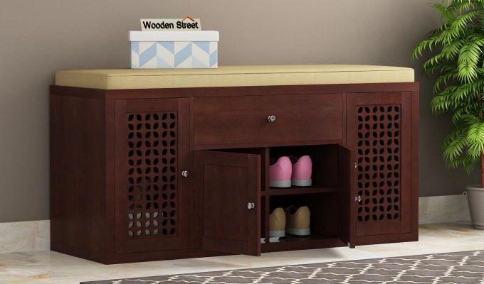Leomore Shoe Cabinet (Walnut Finish)-1