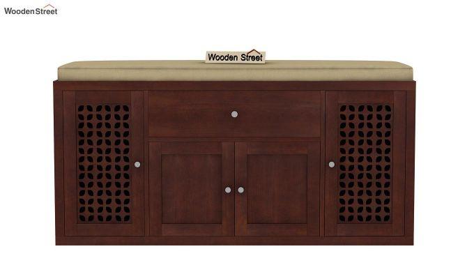 Leomore Shoe Cabinet (Walnut Finish)-4