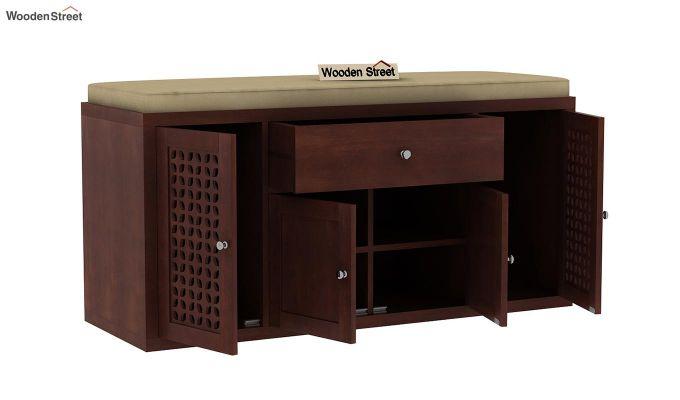 Leomore Shoe Cabinet (Walnut Finish)-5