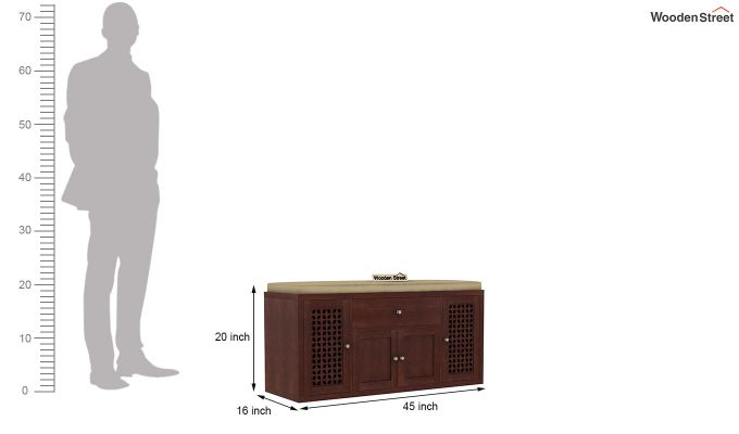 Leomore Shoe Cabinet (Walnut Finish)-7