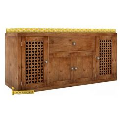 Leomore Shoe Cabinet (Teak Finish)