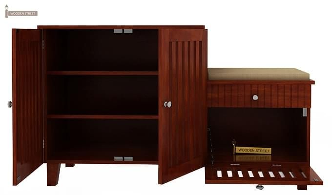 Lizbeth Shoe Cabinet (Honey Finish)-4