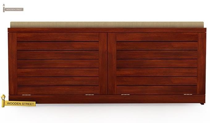Lorenzo Shoe Cabinet (Honey Finish)-2