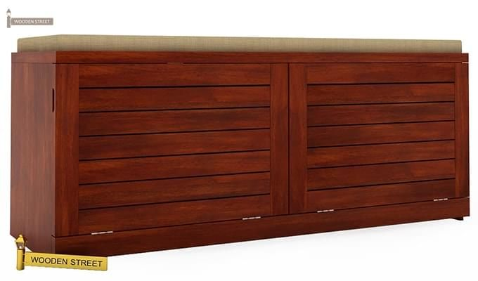 Lorenzo Shoe Cabinet (Honey Finish)-3