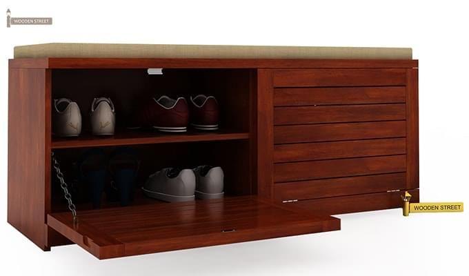 Lorenzo Shoe Cabinet (Honey Finish)-4