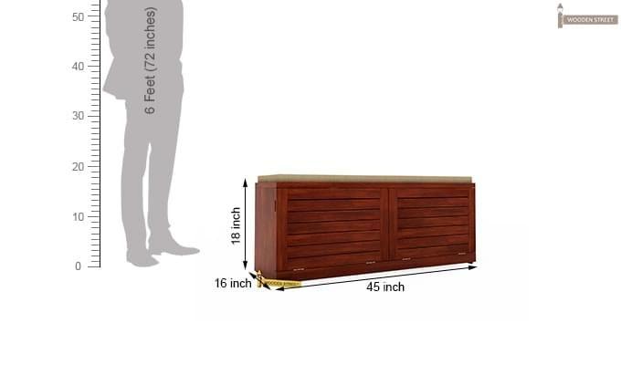 Lorenzo Shoe Cabinet (Honey Finish)-5